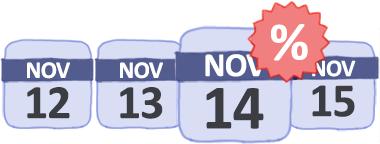 Calendário de próximas ofertas e voos baratos